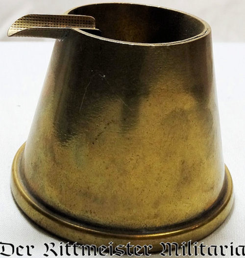 UNKNOWN ARTILLERY SHELL CASING TRENCH ART ASHTRAY - Imperial German Military Antiques Sale