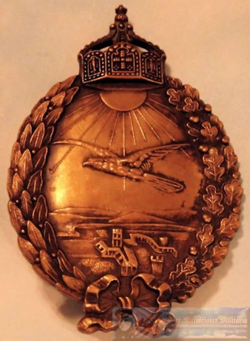 GERMANY - PILOT BADGE - NAVY LAND - ENGRAVED - Imperial German Military Antiques Sale