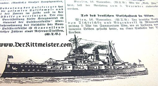 GERMANY - DOCUMENT - WAR ANNOUNCEMENT - Nr 1055: SINKING OF ENEMY SHIPPING - Imperial German Military Antiques Sale