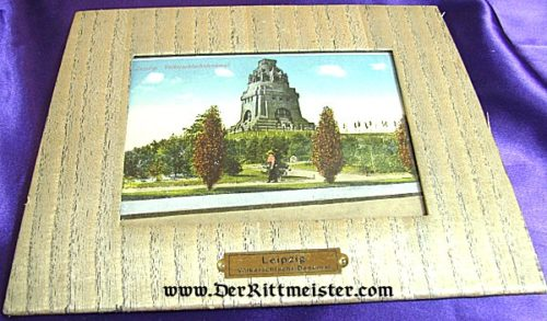 GERMANY - FRAMED COLOR IMAGE FOR THE VÖLKERSCHLACHTDENKMAL IN LEIPZIG - Imperial German Military Antiques Sale