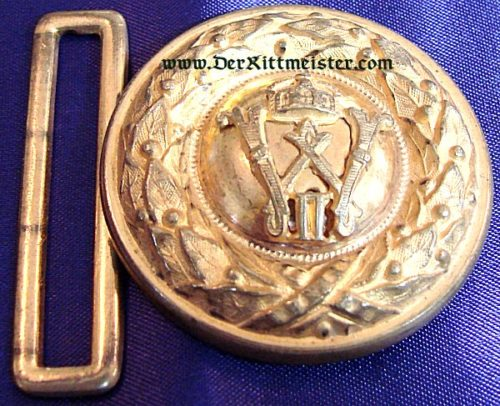 BADEN - BELT BUCKLE - OFFICER - INFANTERIE - Imperial German Military Antiques Sale