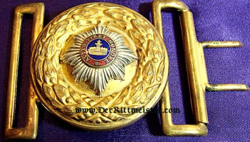 MECKLENBURG-STRELITZ - BELT BUCKLE - GENERAL OFFICER - Imperial German Military Antiques Sale