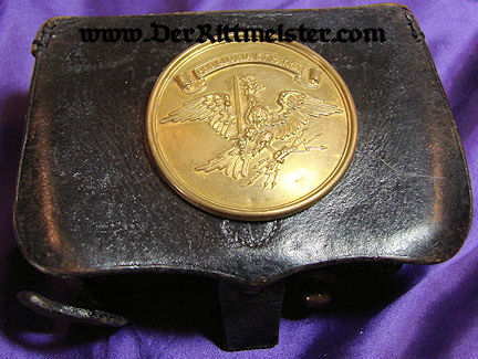 PRUSSIA - CARTRIDGE BOX - ENLISTED MAN - LEIB-KÜRAßIER-REGIMENT GROßER KURFÜRST Nr 1 - Imperial German Military Antiques Sale