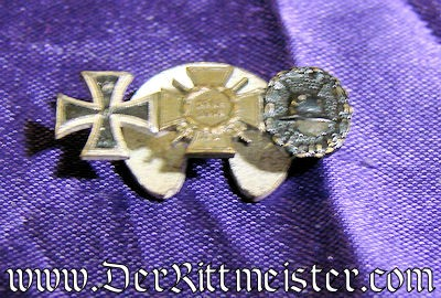 GERMANY - BOUTONNIERE - THREE-PLACE - Imperial German Military Antiques Sale