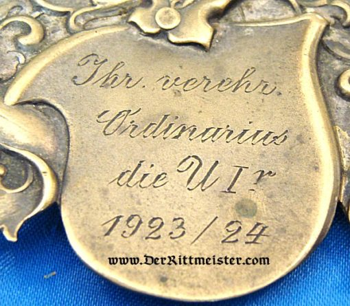 GERMANY - METAL PLAQUE - BARON'S COAT OF ARMS - Imperial German Military Antiques Sale