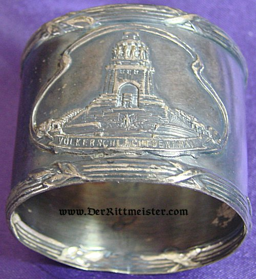 GERMANY - NAPKIN RING - VÖLKERSCHLACHTDENKMAL IN LEIPZIG - Imperial German Military Antiques Sale