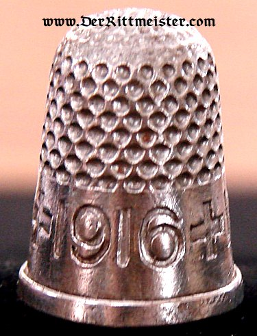 GERMANY - THIMBLE - FROM THE TIME OF THE GREAT WAR - Imperial German Military Antiques Sale