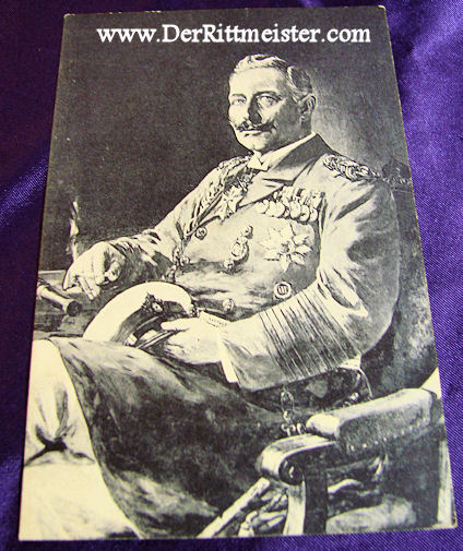 POSTCARD - KAISER WILHELM II - GROßADMIRAL'S UNIFORM - Imperial German Military Antiques Sale