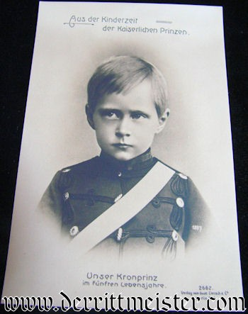 POSTCARD - KRONPRINZ WILHELM AS YOUNG BOY - Imperial German Military Antiques Sale