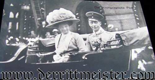 POSTCARD - KRONPRINZ WILHELM AND WIFE IN CARRIAGE - Imperial German Military Antiques Sale
