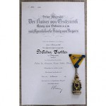 GERMAN DOCUMENTS WITH AWARDS:
