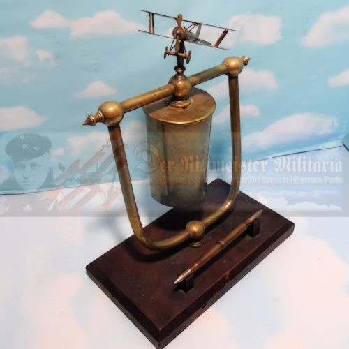 GERMANY - DESK PIECE - AIR SERVICE - GONG FOR OFFICER'S CASINO - Imperial German Military Antiques Sale