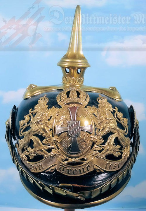 BAVARIA - PICKELHAUBE - RESERVE OFFICER'S - CHEVAULEGERS OR SCHWERES-REITER-REGIMENT