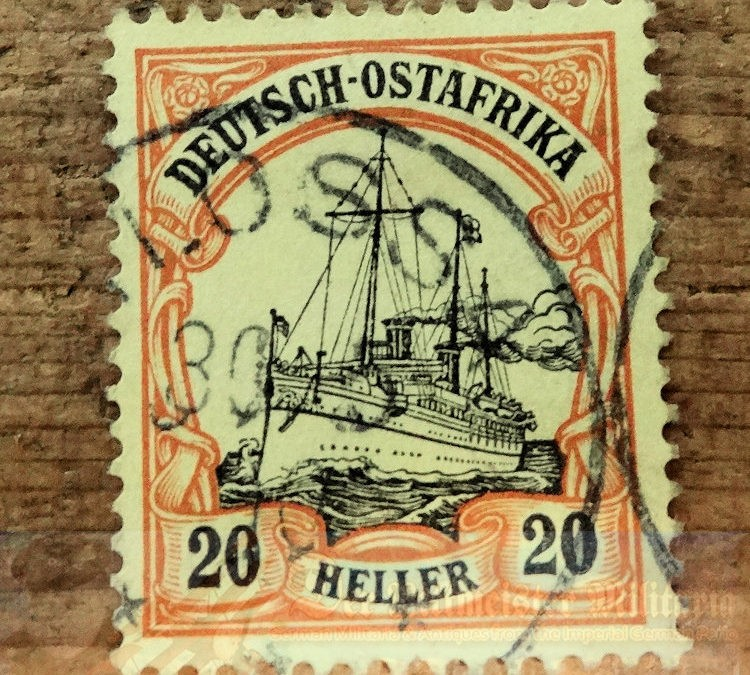 EAST AFRICA COLONIAL- STAMP – 20 HELLER – POSTMARKED LOSSA
