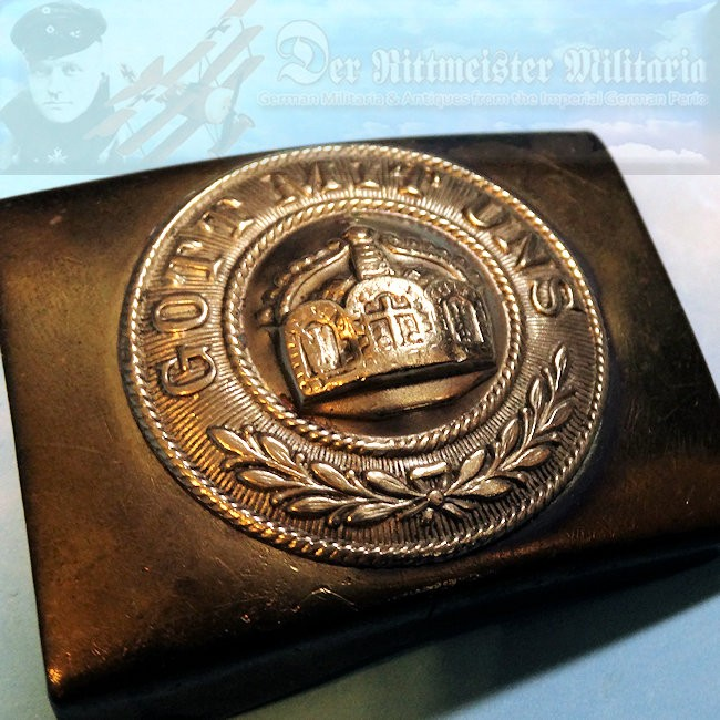 BELT BUCKLE – ENLISTED MAN/NCO'S COLONIAL/SEE-BATAILLONE/MARINE-INFANTERIE