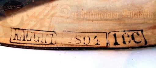 COVER - MITRE - OILCLOTH - KAISER ALEXANDER GUARD GRENADIER REGIMENT NR 1 - 1894 - KOMPAGNIE NR 10.