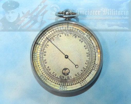 ALTIMETER - AIRPLANE/ZEPPELIN - ORIGINAL STORAGE CASE - Imperial German Military Antiques Sale