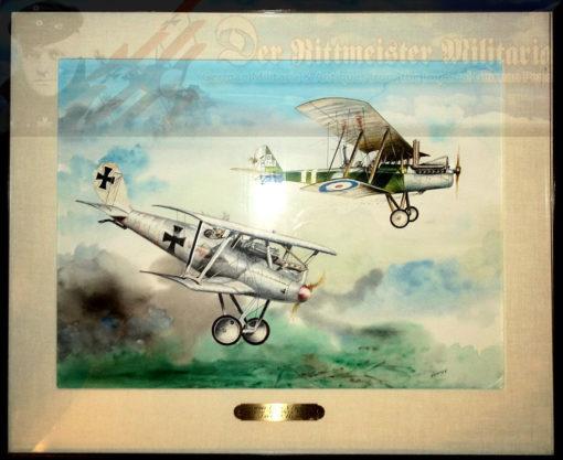 JACK D. HUNTER - ORIGINAL PAINTING - STACHEL TAKES A PRISONER - Imperial German Military Antiques Sale