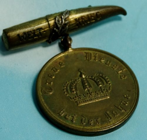 TRENCH ART 12 - YEAR LONG - SERVICE DECORATION - Imperial German Military Antiques Sale
