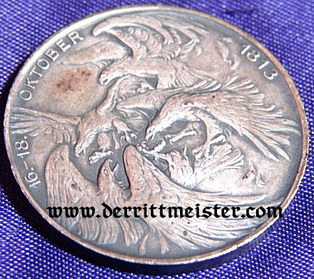 TABLE MEDAL - 100-YEAR-COMMEMORATIVE - VÖLKERSCHLACHT DENKMAL LEIPZIG - ORIGINAL PRESENTATION CASE - Imperial German Military Antiques Sale