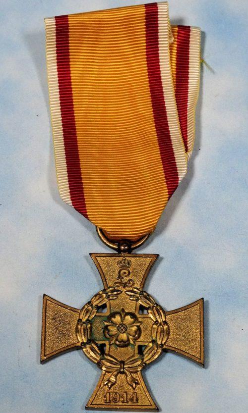 WAR SERVICE CROSS 2nd CLASS - COMBATANT'S - LIPPE DETMOLD