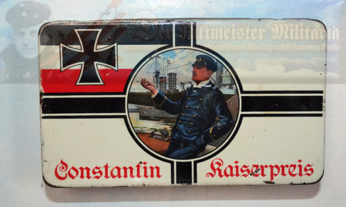CIGARETTE TIN - CONSTANTIN BRAND - KONSTANTIN KAISERPREIS - FIFTY CIGARETTES