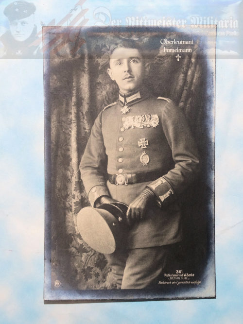"SANKE CARD NR 361 - OBERLEUTNANT MAX IMMELMANN - ""DEATH CARD."""
