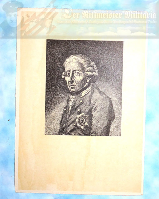 PRUSSIA - LITHOGRAPH - FREDERICK THE GREAT