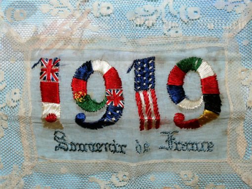 GERMANY - PATRIOTIC DOILY/PLACE MAT CELEBRATING WW I ALLIED VICTORY - Imperial German Military Antiques Sale