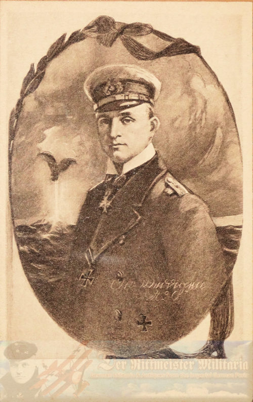 PRUSSIA - POSTCARD - KAPITÄNLEUTNANT OTTO WEDDIGEN - NAVY - PLM-WINNER - COMMANDER OF U-9 AND U-29