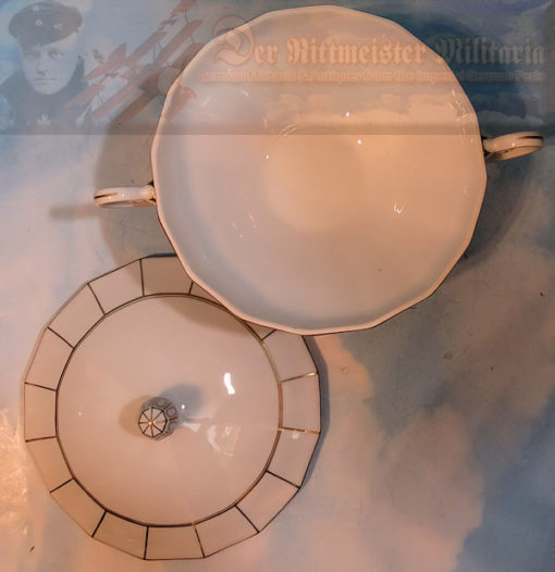 The set has an Art Deco feel about it and was likely produced in the late 1920's early 1930's