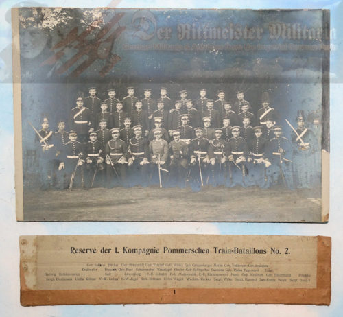PRUSSIA - PHOTOGRAPH - TRAIN-BATTALION NR 2