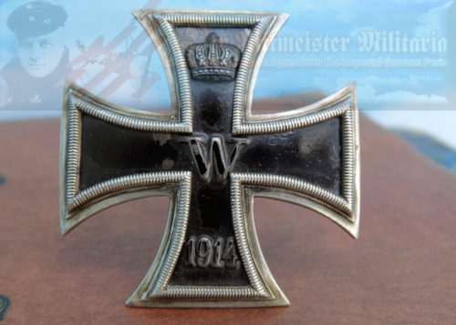 PRUSSIA - IRON CROSS - 1914 - 1ST CLASS - SLIGHTLY VAULTED - 800 SILVER