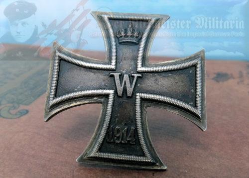 PRUSSIA - IRON CROSS - 1914 - 1ST CLASS - VAULTED - .950 HALLMARKED
