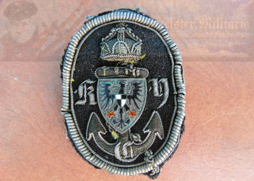 PRUSSIA - CAP BADGE - K.Y.C. YACHT CLUB - THE ROYAL PRUSSIAN YACHT CLUB.