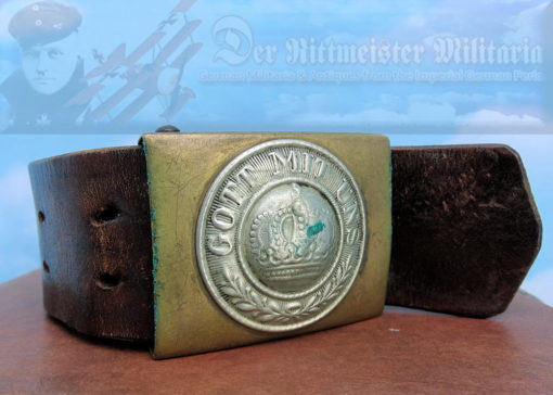 PRUSSIA - BELT AND BUCKLE - ENLISTED MAN/NCO - LEATHER