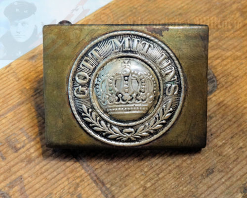 PRUSSIA - BELT BUCKLE - ENLISTED MAN/NCO - PRE WAR - BRASS
