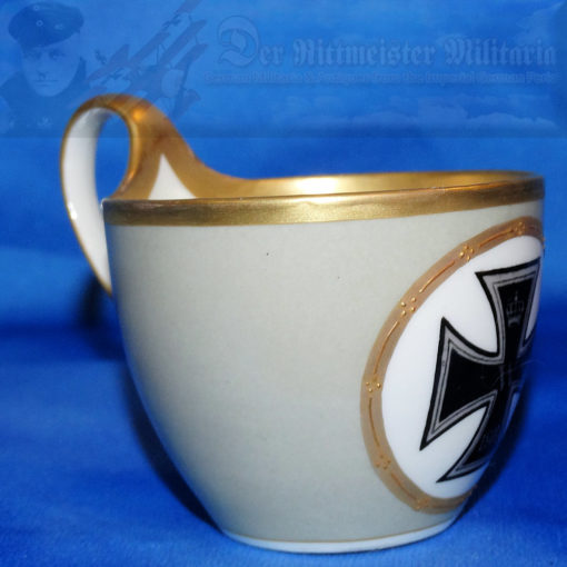 GERMANY - COFFEE CUP - PATRIOTIC IRON CROSS  - DEMITASSE - KPM