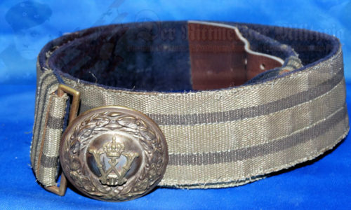 PRUSSIA - BELT AND BUCKLE - OFFICER - BROCADE