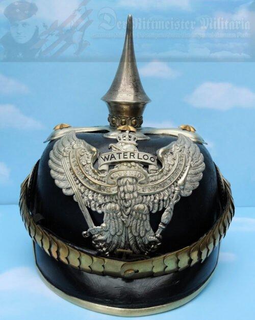 PRUSSIA/HANNOVER - PICKELHAUBE / SPIKE HELMET - OFFICER - DRAGONER-REGIMENT NR 16