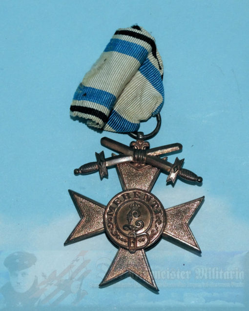 BAVARIA - MILITARY SERVICE CROSS - THIRD CLASS WITH SWORDS AND CROWN