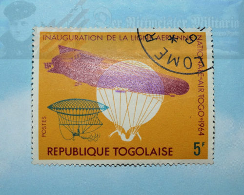 AFRICA - POSTAGE STAMP - THE REPUBLIC OF TOGO - COMMEMORATING AIRSHIPS