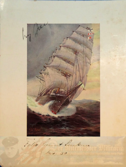 GERMANY - PRINT - FULL COLOR - S.M.S. SEEADLER - SIGNED BY THE ARTIST AND WHICH IDENTIFIES GRAF VON LUCKNER
