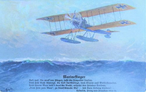 GERMANY - POSTCARD - SEAPLANE - MARINE FLIEGER