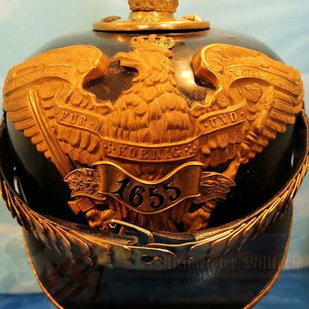 PRUSSIA - PICKELHAUBE / SPIKED HELMET - OFFICER - GRENADIER-REGIMENT NR 1
