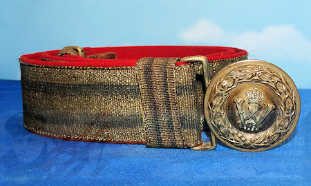 GERMANY - BELT AND BUCKLE - GENERAL OFFICER - BROCADE DRESS BELT AND BUCKLE