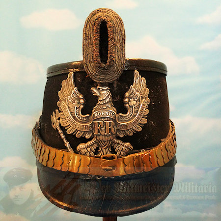 PRUSSIA - SHAKO - OFFICER - LUFTSCHIFFER OR TELEGRAPH BATTALION