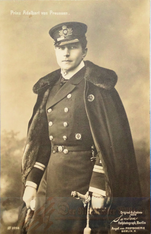 PRUSSIA - POSTCARD - PRINZ ADALBERT IN THE UNIFORM OF A NAVAL OFFICER