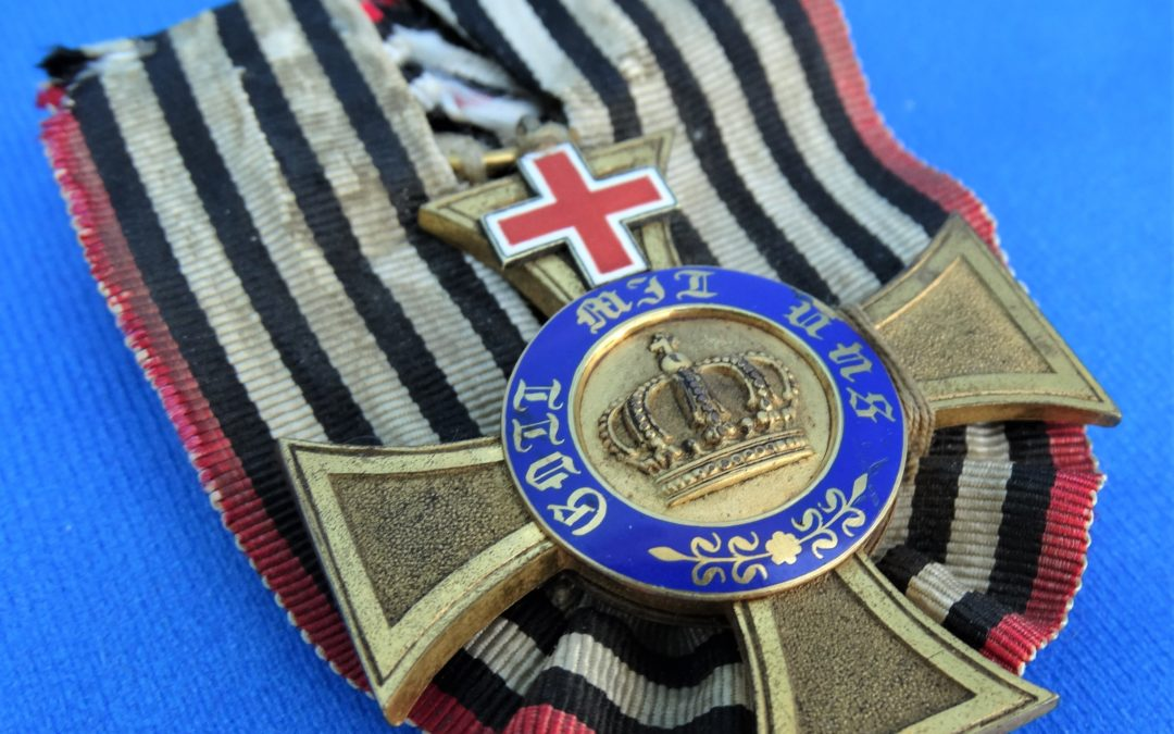 PRUSSIA – CROWN ORDER – 4TH CLASS – GENEVA CROSS – AWARDED TO A MEDICAL PROFESSIONAL