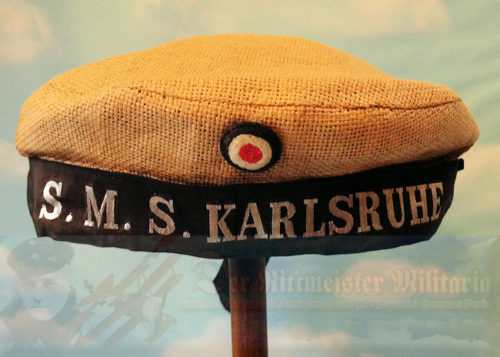 GERMANY - MÜTZE - ENLISTED MAN - PRIVATE PURCHASE - S.M.S. KARLSRUHE